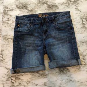 KFTK - Denim Jean Shorts W/ Slight Distressing - 4